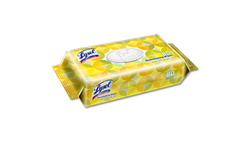 LYSOL DISINFECTING WIPES - LEMON & LIME BLOSSOM SCENT - 80 WIPES IN FLAT PACK