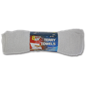 WHITE TERRY CLOTH TOWELS - 8/PK