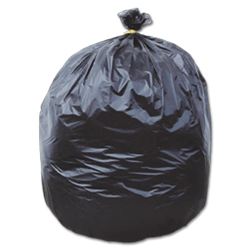 60 GALLON EXTREME HEAVY DUTY CLEANUP TRASH BAGS - BLACK 6.0 MIL 25/RL