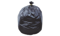 60 GALLON ENVIRONMENTALLY GREEN TRASH BAGS - BLACK 1.75 MIL 100/CS