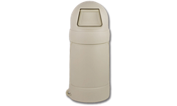 18 GALLON ROUND TOP TRASH CAN - BEIGE