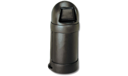 18 GALLON ROUND TOP TRASH CAN - BROWN