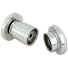 SHOWER ROD FLANGES ADJUSTABLE CHROME-PLATED PLASTIC