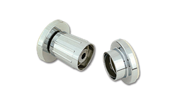 SHOWER ROD FLANGES ADJUSTABLE CHROME ZINC