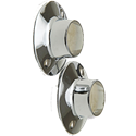 CHROME SHOWER ROD FLANGES ZINC WITH EXPOSED SCREW 2/PK