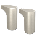 MOEN EDGESTONE TOWEL BAR MOUNTING POST BRUSHED NICKEL 1PAIR