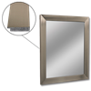 "36"" X 30"" FRAMED MIRROR- SATIN NICKEL FRAME"