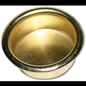 "CLOSET DOOR FINGER PULLS 2-1/8"" DIA - POLISHED BRASS"