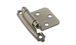 FLUSH SELF CLOSING HINGE PAIR - SATIN NICKEL