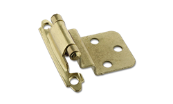 "3/8"" INSET SELF CLOSING HINGE PAIR - POLISHED BRASS"
