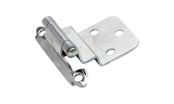 "3/8"" INSET SELF CLOSING HINGE PAIR - POLISHED CHROME"
