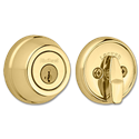 KWIKSET SINGLE CYLINDER GATELATCH - POLISHED BRASS
