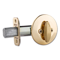 KWIKSET ONE-SIDED DEADBOLT - POLISHED BRASS