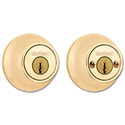 KWIKSET DOUBLE CYLINDER DEADBOLT - POLISHED BRASS