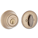 KWIKSET SINGLE CYLINDER DEADBOLT - ANTIQUE BRASS