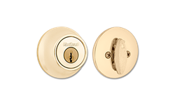 KWIKSET SINGLE CYLINDER DEADBOLT - POLISHED BRASS