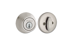 KWIKSET SINGLE CYLINDER DEADBOLT- SATIN NICKEL