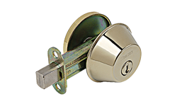 WESLOCK SINGLE CYLINDER DEADBOLT - POLISHED BRASS
