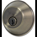 WESLOCK SINGLE CYLINDER DEADBOLT - ANTIQUE BRASS