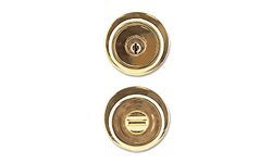 MAXWELL TULIP ENTRY LOCK - POLISHED BRASS