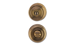 MAXWELL TULIP ENTRY LOCK - ANTIQUE BRASS