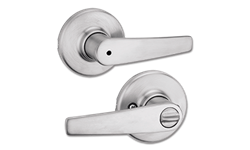 KWIKSET DELTA LEVER PRIVACY -SATIN CHROME