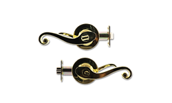 MAXWELL ENTRY LEVER LOCK - POLISHED BRASS