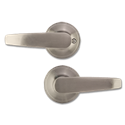 ELECTRA STRAIGHT PASSAGE LEVER- SATIN NICKEL