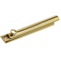 "SURFACE BOLT 6"" - POLISHED BRASS"
