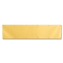 "34"" X 8"" BRASS PLATED KICKPLATE"