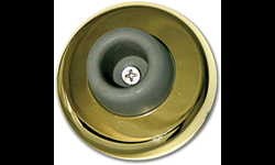 WALL MOUNT DOOR STOP - POLISHED BRASS