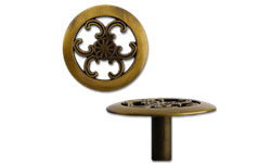 "1-1/2"" CABINET KNOB - ANTIQUE BRASS - 5/PK"