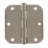 "3-1/2"" DOOR HINGE 5/8"" RADIUS, PAIR - SATIN NICKEL"