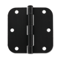 "3-1/2"" DOOR HINGE 5/8"" RADIUS, PAIR - OIL RUBBED BRONZE"