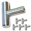"2"" ""T"" CABINET PULL WITH BEVELED ENDS- SATIN NICKEL - 5/PK"