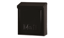 LOCKABLE VERTICAL WALL MOUNT MAILBOX - BLACK
