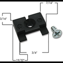 WINDOW SLIDE GUIDE WITH SCREW - 5/PK