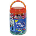 BUNGEE STRETCH CORDS - 12PK