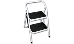2-STEP ALUMINUM LADDER/STOOL - 28""