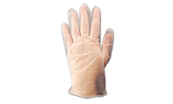 DISPOSABLE VINYL GLOVES LARGE - 100/BX