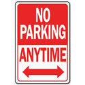 NO PARKING ANYTIME HWY SIGN - ALUMINUM