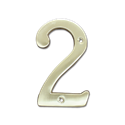 "HOUSE NUMBER 4"" BRASS - # 2"