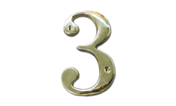 "HOUSE NUMBER 4"" BRASS - # 3"