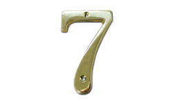 "HOUSE NUMBER 4"" BRASS - # 7"