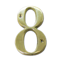 "HOUSE NUMBER 4"" BRASS - # 8"