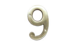"HOUSE NUMBER 4"" BRASS - # 9"