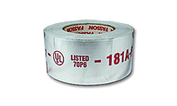 "FASSON 0810 FOIL TAPE - 2-1/2"" X 60 YDS. 2-MIL UL-181 RATED"