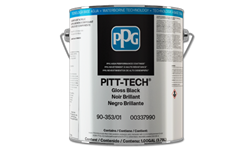 PITT-TECH INTERIOR/EXTERIOR ENAMEL GLOSS BLACK - 1 GALLON