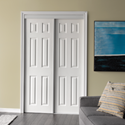 6 PANEL BYPASS DOOR WHITE- 60""