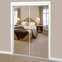 MIRROR BYPASS DOOR WHITE- 48""